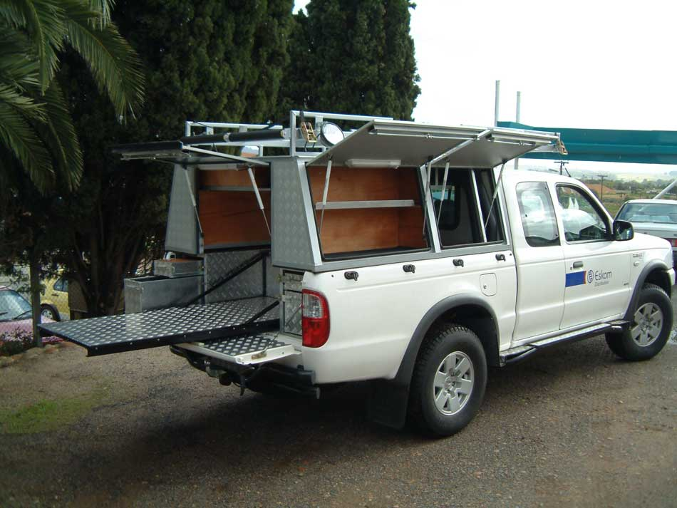 Turn Key Manufacturing u2022 Assembly u2022 Laser Cutting u2022 CNC Punching u2022 CNC Bending u2022 CNC Routing u2022 Robotic Welding u2022 Component Manufacturing & Service vehicle aluminium canopies for Eskom with access doors all ...