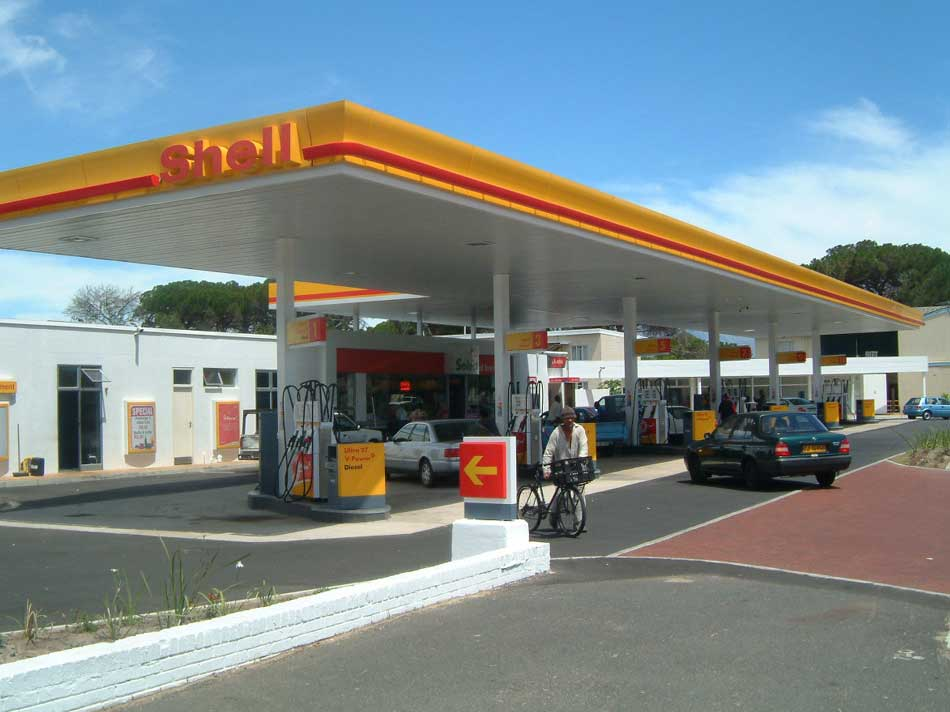 Canopy Signage And Forecourt Equipment For Shell Service